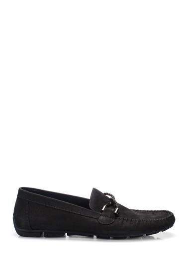 İnci %100 Deri Loafer Ayakkabı Lacivert